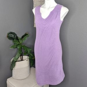 Athleta Purple Crochet Dress Cover-up